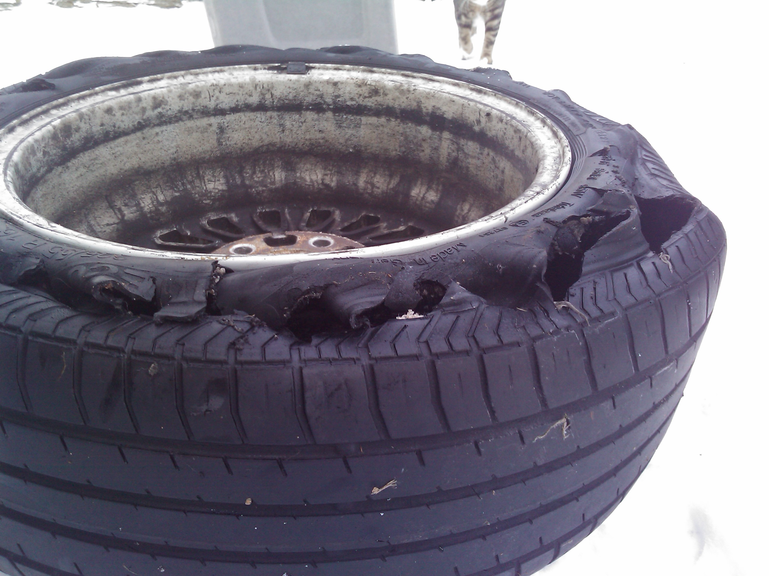 Blown Tyre 1